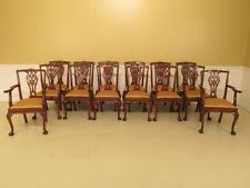 f30184ec set of 14 clawfoot gany dining room chairs