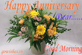 Good Morning Happy Anniversary Gif Image Wallpaper Flower Bouquet