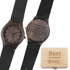 to my husband i love you for all that you are personalized leather wood watch for husband gifts from wife to husband birthday gifts and unique groomsmen