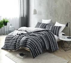 Trinity Black And White Oversized King Comforter Cotton Bedding View ...