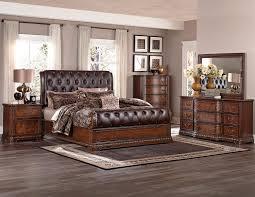 Lane Bedroom Furniture Homelegance Brompton Lane Upholstered Bedroom Set Cherry B1847 1