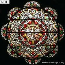 stained glass stained glass to full round square diamond painting window mosaic home decoration