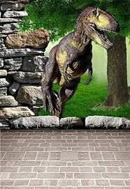 3D Dinosaur Children Photography Backgroound 5x7ft <b>Laeacco</b> ...