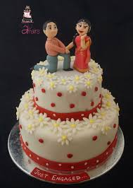 Will U Marry Me Oh What Coy Engagement Cake With Cute Toppers