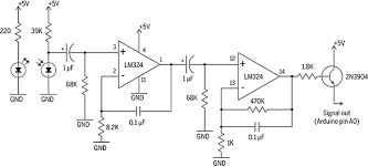 easily take a pulse a infrared pulse sensor make schematic symbolic op amp representation