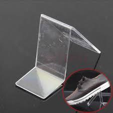 Shoe Display Stands Wholesale Acrylic V Shape Shoe Shop Retail Display Stand Rack Shelf on 2