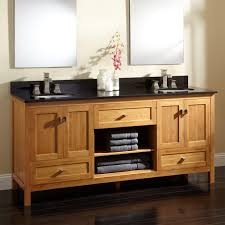dual vanity bathroom: quot alcott bamboo double vanity for undermount sinks