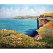 high quality claude monet paintings for cliff at fecamp canvas art hand painted
