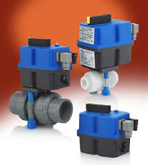 electric ball valve actuators for plastic valves series ebva ebvb electric actuators for 2 way and 3 way ball valves w manual override visual position indicator corrosion resistant housing