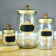 Decorative Glass Jars With Lids Mason Jar Canister Set Vintage Metal Kitchen Canisters Farmhouse 84