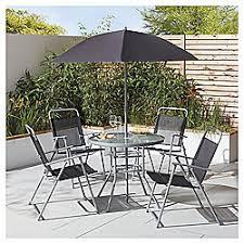 garden patio furniture. tesco hawaii 6 piece black garden dining set patio furniture a