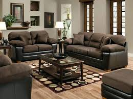 Living Room Brown Couch New Living Room With Brown Sofa Greatprice