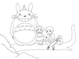 Draw Drawings And Totoro Coloring Book How To Free Pages