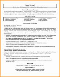 Example Of Financial Analyst Core Competencies Profesional Resume