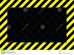 Black And Yellow Stripes Border Danger Or Warning Sign Border With Black And Yellow Stripes And