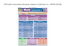 Pdf Math Fundamentals 3 Quickstudy Academic By Barcharts
