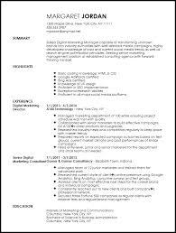 Marketing Director Resume Resume Sample