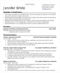 Nursing Graduate Resume Samples Student Nurse Resume Examples