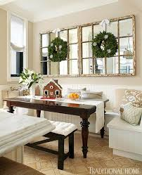 dining room mirrors. a banquette and old windows with mirrors would be great dining room