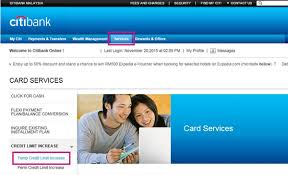 Asking For Credit Line Increase Credit Card Limit Increase Credit Card Limit Citibank Malaysia
