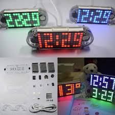 diy ds3231 touch key precision hight brightness led dot matrix display desktop alarm clock kit