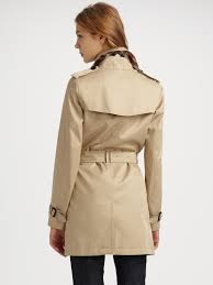 burberry single ted trench coat