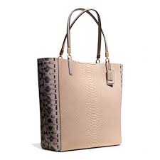 ... norway lyst coach madison north south bonded tote in python embossed  leather 2e31b 6bef7 ...