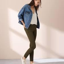 Lou And Grey Size Chart Lou Grey Sample Skinny Olive Green Pants Sz L
