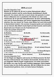 نماذج امتحان اللغة الالمانية المتوقعة للصف الثالث الثانوي 2020 - موقع صباح  مصر