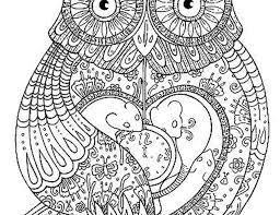 Printable Owl Coloring Pages For Adults For Printable Jokingart