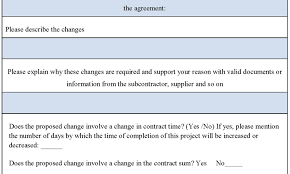 Document Template : Form Template Order Request Change Project ...