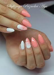 Peach Nail Designs Pinterest Semilac 001 Strong White 055 Peach Milk Naiils