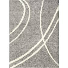 gray and white rug. World Rug Gallery Soft Cozy Contemporary Stripe Light Gray/White 7 Ft. 10 In Gray And White R
