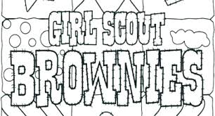 Girl Scout Coloring Pages Coloring Pro