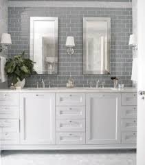 chair rail bathroom. Gray Subway Tile With Chair Rail Bathroom | Pinterest Tiles, Tiles And