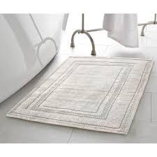jean pierre stonewash racetrack 21 in x 34 in cotton bath rug in light