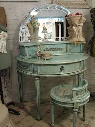 antique vanity set furniture. french blue and gold vanity table | , blue, vintage antique set furniture e