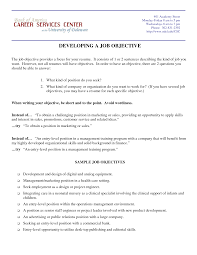 Objective For Marketing Resume Resume For Study