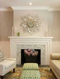 love tile love lower mantel love three tiers of mantel maybe what it would look like w o bookcases probably my favorite mantel also love paint