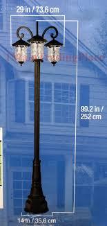 innova lighting led 3 light outdoor lamp post photo 3