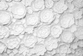 Paper Flower Background White Paper Flowers On White Background