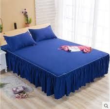 blue single ruffle bedding bed spreads cover sheet valance bed skirt 0 7x1 9m