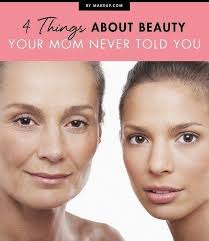 most of us learned a lot about beauty from our moms but what about those