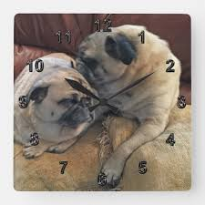 pug gifts for pug or your photo clock