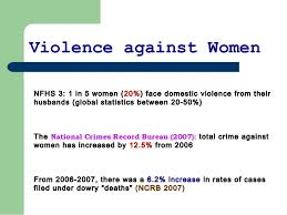 violence against women extent of violence