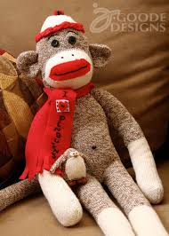 sock monkey and penguin by jen goode