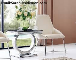 modern glass furniture. Modern Round Steel Base Glass Dining Table / Furniture