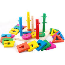 Game With Wooden Blocks 100 New Kids Five Columns Educational Blocks Game Tool Colourful 66