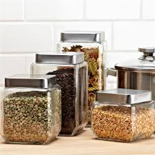 pretty glass kitchen canisters canister sets for the new way home decor adorable