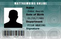 - Film Prop Matthawkins Id Cards Free Create